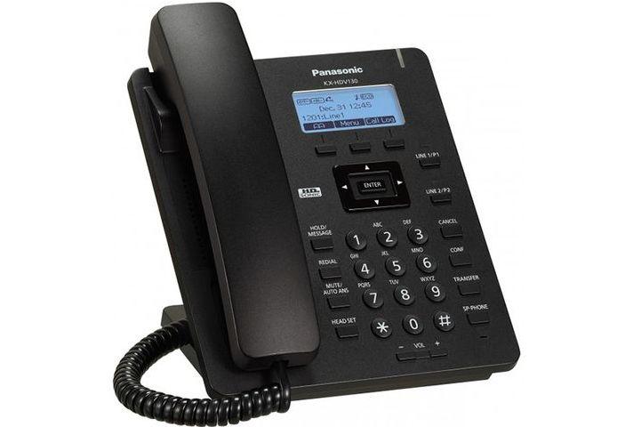 Телефон IP Panasonic KX-HDV330RUB черный